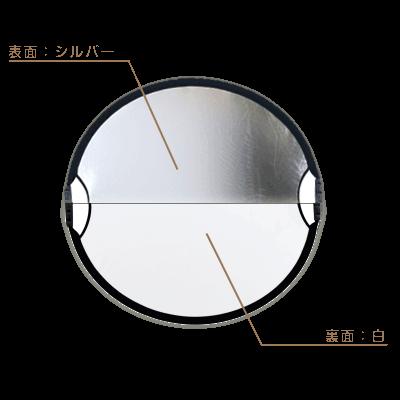 丸レフ板サンムーバー(84×77cm)◇シルバー/白