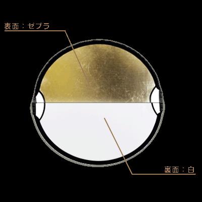 丸レフ板サンムーバー(84×77cm)◇ゼブラ/白
